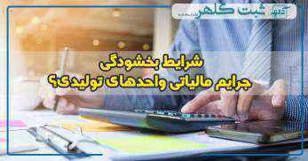 شرایط بخشودگی ۹۰ درصدی جرایم مالیاتی واحدهای تولیدی در بهمن ماه